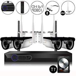 CAMVIEW Wireless Security Camera System 4pcs 1080P WiFi CCTV