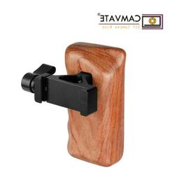 CAMVATE Wooden Handgrip Left w/ Quick ARCA Clamp Mount for D