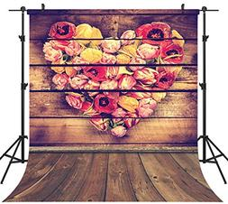 OUYIDA 10X10FT Wooden Wall Photo CP Pictorial Cloth Photogra