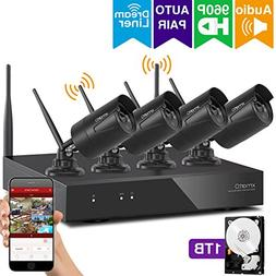 xmartO Expandable Wireless Security Camera System Outdoor 8C
