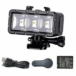 Suptig XShot Dimmable Waterproof  LED Video Light for GoPro