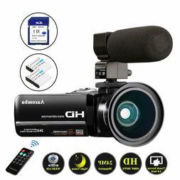 youtube vlogging video camera camcorder 1080p full